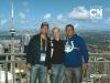 Con Marta (veterinaria) y Rodrigo (caballerizo)